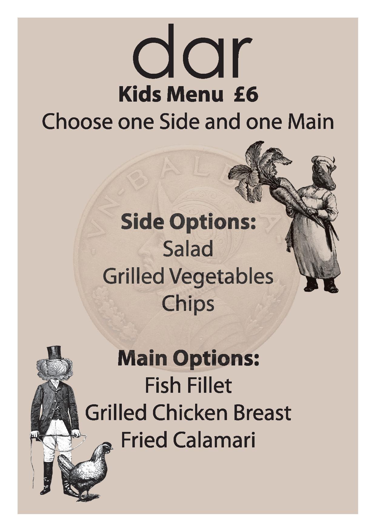 Kids Lunch Menu July 2019