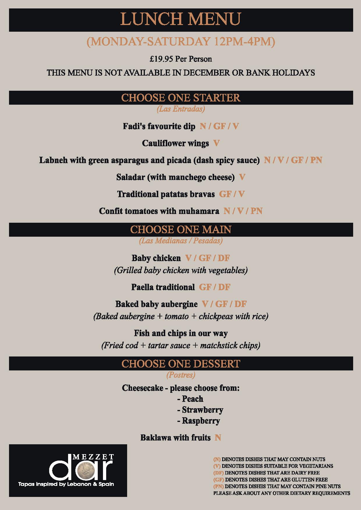 Mezzet Dar Lunch May21